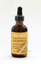 Чистое аргановое и конопляное масло для волос