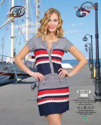 Качественное тонкое платье, морской принт. Идеально для жары