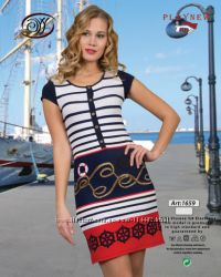 Красивое платьице в морском стиле Playnew