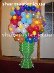 Букеты из воздушных шаров Киев, вазы и цветы из воздушных шаров.