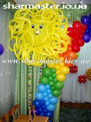 Доставка воздушных шаров на детский праздник в Киеве, фольгированные шары.