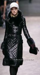 стильное кожаное пальто на синтепоне