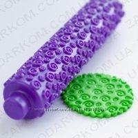 Скалки для работы с мастикой текстурные