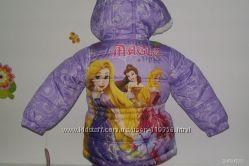 Курточка демисезон для девочки с принцессами и дашей