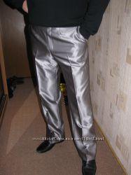 Серебристые брюки размер 52-54 Stager в одеты 1 раз