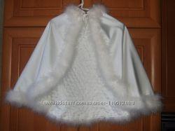 Свадебное болеро с лебединым пухом. Прокат.