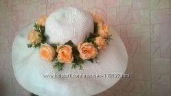 Обворожительная пляжная шляпа с широкими полями