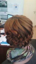 Вечерние прически, плетение кос