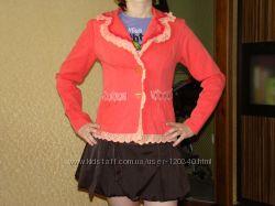 яркий котоновый пиджак, размер S