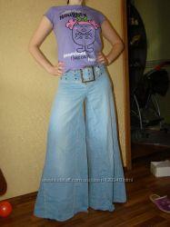 Гламурные широкие от бедра джинсы ISIS