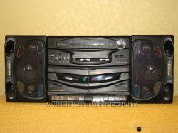 магнитофон двухкассетный с радио и светомузыкой