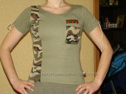 2 футболки милитари