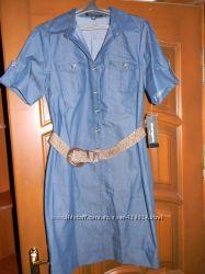 Красивое платье из легкого джинса, размер 10 американский