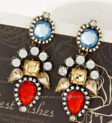 Красивые серьги Shourouk , Zara , JCrew в наличии, большой выбор