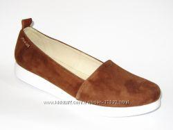 Стильные туфли на низком ходу, натуральная замша, 37, 39, 40р.