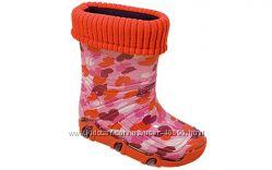 Отличные резиновые сапожки ТM Zetpol с утепленным носочком р. 2930