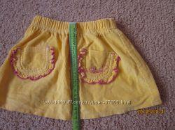 Яркая юбочка для девочки на 3-4 года.