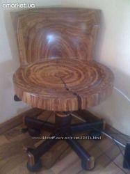 Кресло-стул из натурального дерева Зебану, Био Мебель