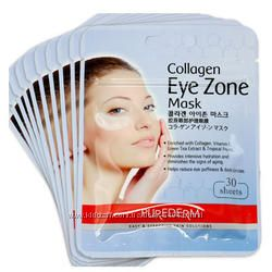 Коллагеновые маски - патчи под глаза - Purederm Collagen Eye Zone Mask 30шт