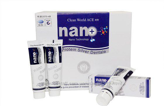 Зубная паста с ионами серебра Clean world ace tooth paste, 180g