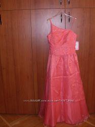 Новое вечернее, выпускное платье кораллового цвета, США