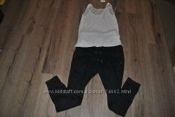 Суперские легкие брючки для беременных H&M размер С или М
