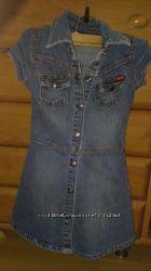 Джинсовое платье  GUESS размер 4-5 лет