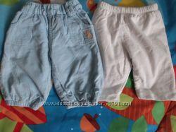Вельветовые штаны на подкладке, осень - весна, р 0 - 3, 3 - 6