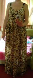 Любительницам леопардового принта - макси сарафан, шифон, L