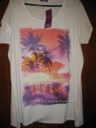 Новая футболка с принтом F&F, р-р 20 англ.