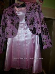 Для выпускного Костюм платье атласное и пиджак