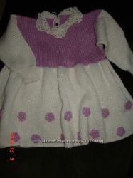 Платье теплое с люрексом на 18-30 мес