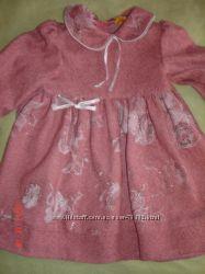 Платье розовое шерстяное на 2, 5-3, 5 года