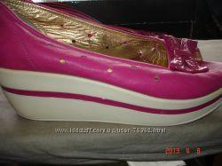 Туфли кожанные на платформе р. 39