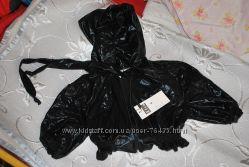 Новая Куртка-болеро, черная лаковая, размер S