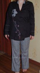 костюм на беременную брюки и блуза, очень модный, на любой живот, не дорого