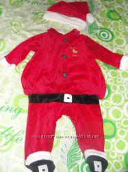 Очаровательный костюмчик Санты для малыша 9мес. Прокат