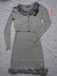 Трикотажный костюм болеро и платье-сарафан