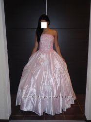 Свадебное выпускное розовое платье