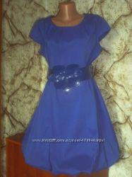 Яркое платье на подкладке р. 46-48