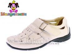 Кожаные весенне-летние нарядные туфли Шалунишка 26-31р большемерят