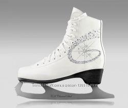 Фигурные коньки СК PRINCESS LUX leather. Натуральная кожа. Размер 36-42.