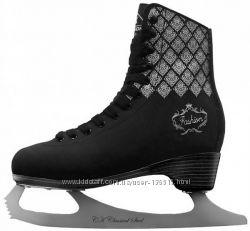 Стильные женские коньки СК FASHION black. Размеры 36-38
