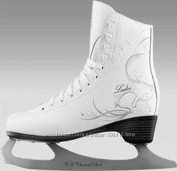 Фигурные женские коньки СК LADIES LUX leather. Размер 36.
