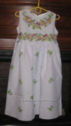 Шикарное платье для девочки по вышивку