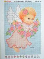 Ангелочки 13х18 см -  наборы и схемы для вышивки бисером