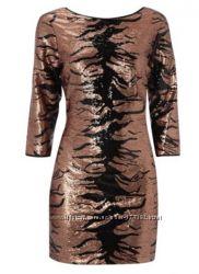 Платье в пайетках, размер 16 англ.