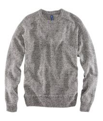 Пуловер серый меланж 20 шерсти, новый р. L