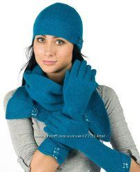 Красивенные  комплекты из шерсти, кашемира , шапка, шарф, перчатки