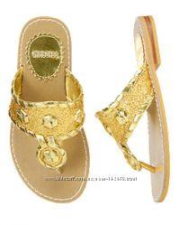 Золотые  сандали Gymboree